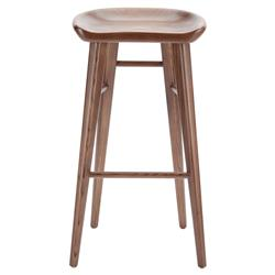 Jacob Modern Classic Brown Walnut Wood Counter Stool