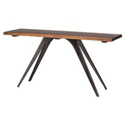 Raine Rustic Lodge Combination Wood Black Console Table