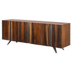 Raine Rustic Lodge Vertical Stria Wood Sideboard Buffet - 78.75W