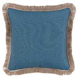Talli Regency Fringe Denim Outdoor Pillow - 20x20