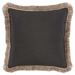 Talli Regency Fringe Black Outdoor Pillow - 20x20