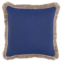 Talli Regency Fringe Cobalt Blue Outdoor Pillow - 20x20