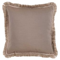Talli Regency Fringe Taupe Outdoor Pillow - 20x20