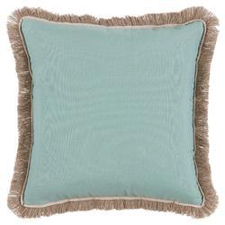 Talli Regency Fringe Soft Teal Outdoor Pillow - 20x20