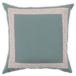 Lacefield Como Modern Classic Splash Fabric Camel Tape Outdoor Pillow - 22x22