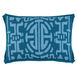 Nava Global Ocean Blue Abstract Outdoor Pillow -13x19