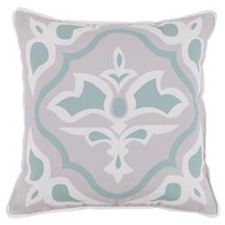 Julie Regency Abstract Mineral Green Outdoor Pillow - 20x20 | Kathy Kuo Home