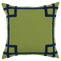 Paton Classic Outdoor Olive Green Trellis Trim Pillow - 20x20
