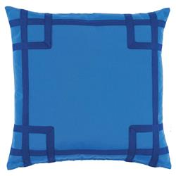 Paton Classic Outdoor Bright Blue Trellis Trim Pillow - 20x20