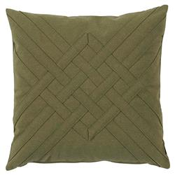 Will Modern Green Pine Lattice Weave Outdoor Pillow - 20x20