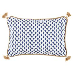 Milia Bazaar Navy Tribal Dot Tassel Trim Pillow - 13x19