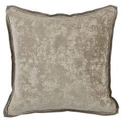 Harriet Regency Washed Herringbone Grey Pillow - 22x22
