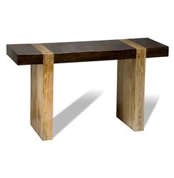 Berkeley Chunky Wood Modern Rustic Console Sofa Table | 134400