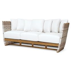 Palecek San Martin Modern Classic Rope Wrapped Outdoor Sofa