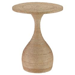 Treva Coastal Beach Rope Wrapped Gourd Side Table