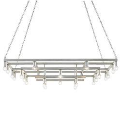 Olinda Industrial Loft Contemporary Silver Metal Chandelier