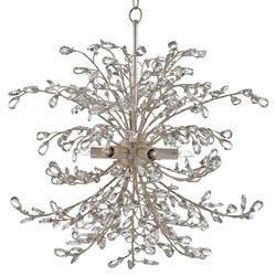 Lexine Regency Crystal Wreath Silver Bud Chandelier