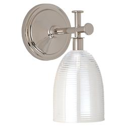 Jora Modern Classic Vintage Glass Shade Silver Sconce
