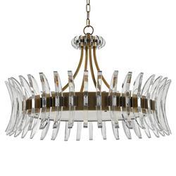 Lumley Modern Optic Crystal Round Brass Chandelier