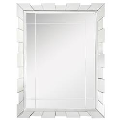 Andrews Hollywood Regency Deco Beveled Pieced Wall Mirror