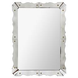 Gina Regency Venetian Deco Beveled Frame Wall Mirror - 23.5W