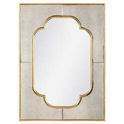 Bungalow 5 Cassia Regency Gold Frame Quatrefoil Mixed Media Wall Mirror