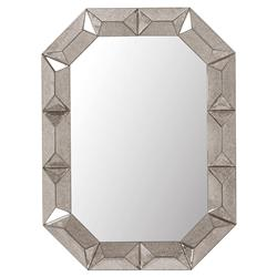 Gene Hollywood Regency Aged Silver Framed Wall Mirror