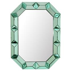 Gene Hollywood Regency Green Framed Wall Mirror