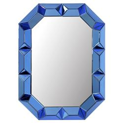 Bungalow 5 Romano Hollywood Regency Blue Framed Wall Mirror