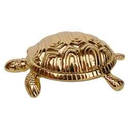 Hollywood Regency Plated Gold Baby Turtle Sculpture