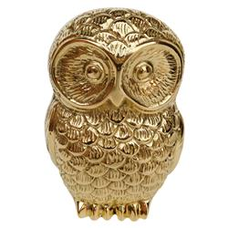 Hollywood Regency Plated Gold Baby Owl Sculpture