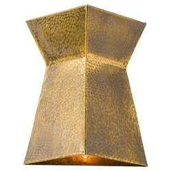 Laurence Hollywood Regency Vintage Etched Brass Wall Sconce