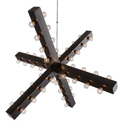 Arteriors Harding Modern Floating Bronze Sculptural Chandelier