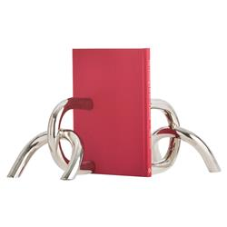 Beau Modern Silver Broken Chain Bookends