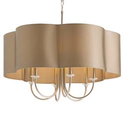Arteriors Rittenhouse Classic Taupe Silver Scalloped Chandelier - 26D