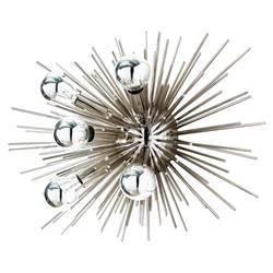 Arteriors Zanadoo Modern Polished Silver Burst Sputnik Wall Sconce