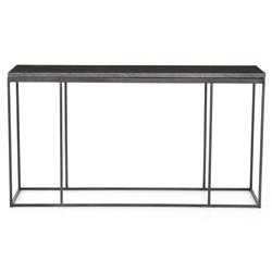Trevor Industrial Loft Grey Bluestone Iron Console Table