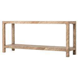 Ingmar Rustic Lodge Parson Herringbone Wood Console Table