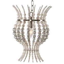 Cipollini Modern Classic Silver Bead Petite Orb Pendant