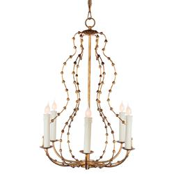 Jacinthe French Country Gold Bud Candle Chandelier