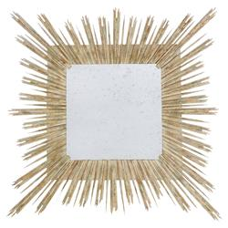 Sari Bazaar White Gold Square Burst Mirror