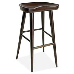 Betsy Modern Rustic Rubbed Black Teak Counter Stool