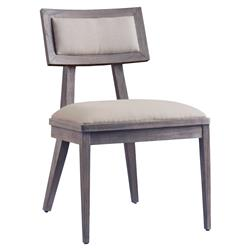 Priscilla Mid Century Modern Natural Upholstered Teak Dining Side Chair