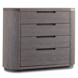 Frank Rustic Modern Teak Notch Grey Wash Bachelors Chest