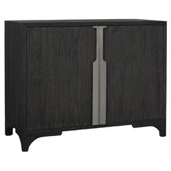 Bert Modern Classic Black Teak 2 Door Accent Chest