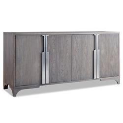 Bert Modern Classic Grey Teak 4 Door Buffet Chest