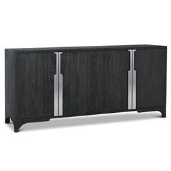 Bert Modern Classic Black Teak 4 Door Buffet Chest