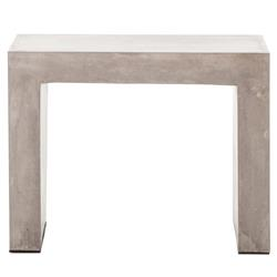 Hanz Industrial Loft Grey Block Concrete Side Table