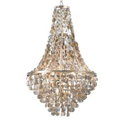 Salsberry Coastal Beach Capiz Disc Shell Chandelier