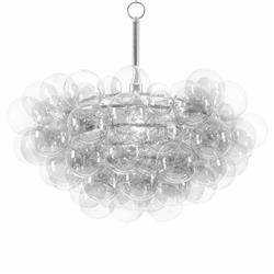 Regina Andrew Clear Modern Floating Glass Bubbles Clear Chandelier